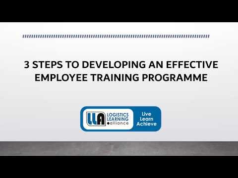 3 Steps to Developing an Effective Employee Training Programme