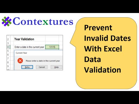 Prevent Invalid Dates With Excel Data Validation
