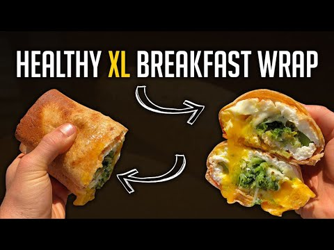 Low Carb/Diet Saving XL Breakfast Wrap | Only 350 Calories