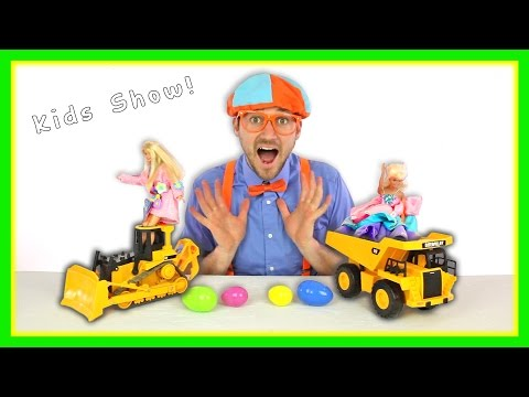 The Blippi Toys Construction Crew | Building A Jump Pit
