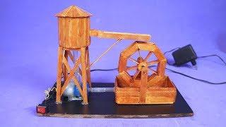 Faça uma Incrível Mini Roda d'água com palitos