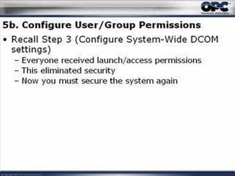 OPC & DCOM - Part 5: Restore Windows Security