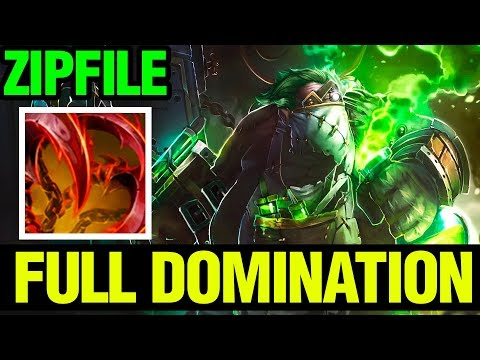 Full Domination - Zipfile Pudge Arcana Gameplay And Giveaway - 7.13 - Dota 2