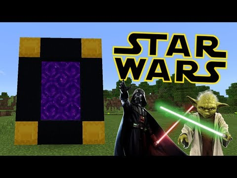 How To Make a Portal to the Star Wars Dimension in Minecraft Pocket Edition