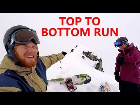 Top to Bottom Run Snowboarding in Whistler