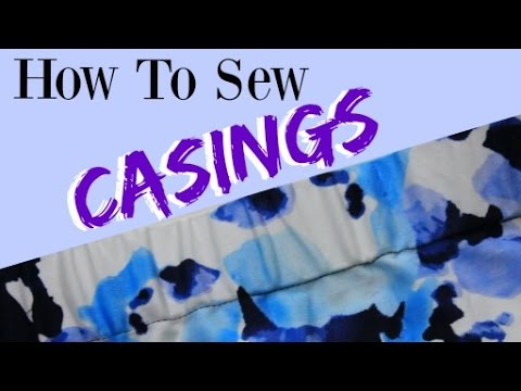 How to Sew an Elastic Waistband   How to Make a Casing