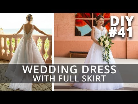 Fabric Consumption | How to make a Wedding Dress with straps and full skirt