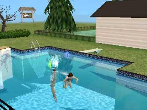 Sims 2 Sim Diving into Pool