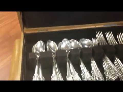 Wallace Grand Baroque Sterling Silver Flatware available at Gannon's Antiques and Art