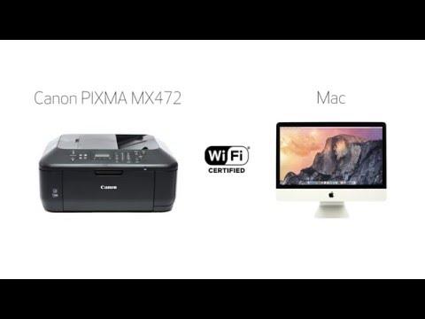 Canon PIXMA MX472 - Standard setup on a Mac