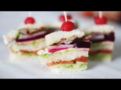 Vegetable Club Sandwich | Healthy Triple Layered Sandwich Recipe | Kanak's Kitchen