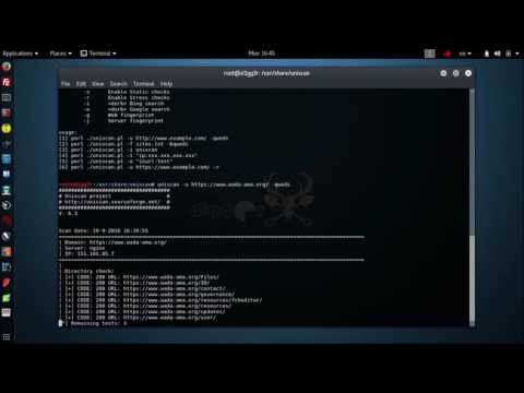 Kali Linux Tools - Vulnerability scanner UNISCAN  Fixes 2016 2