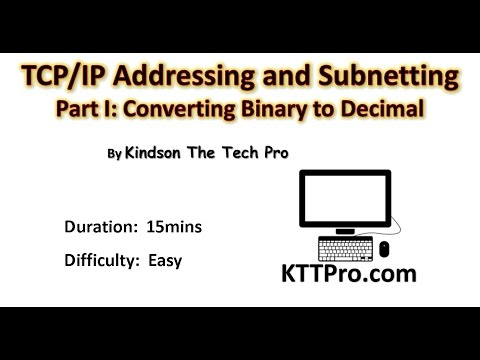 TCP/IP Address and Subnetting: Part 1 - Converting Binary to Decimal