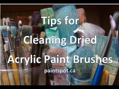 Cleaning Acrylic Brushes