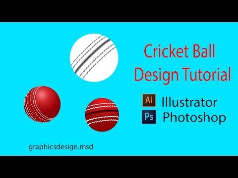 Adobe Illustrator CC Tutorial [ 3D Cricket Ball Logo Design]