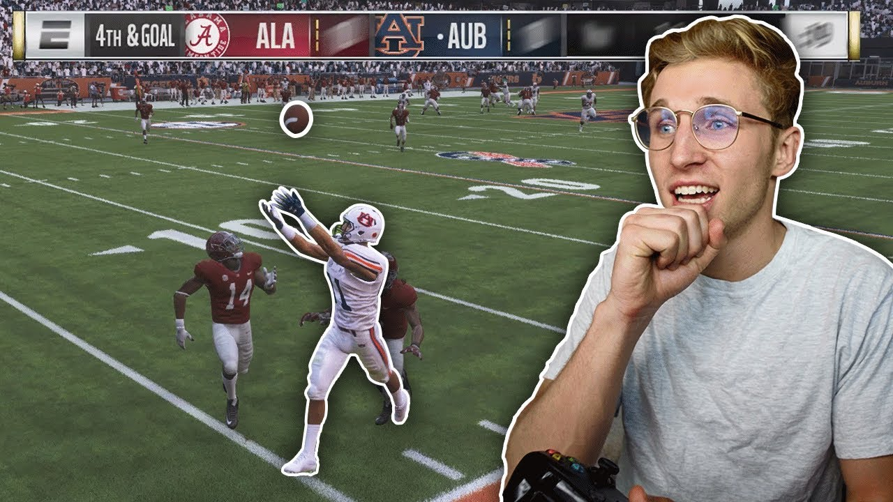 Playing in the Iron Bowl! Modded NCAA 19