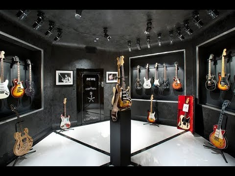 Home Music Studio Design Ideas With Guitars On The Wall
