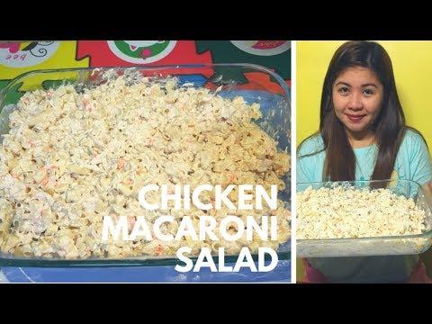 How to make Chicken Macaroni Salad (Filipino Version)