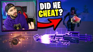 he picked up a cheaters dropped loot to win my custom... (should he win?)
