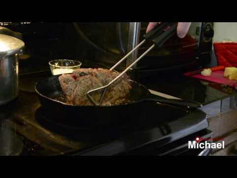 Cooking a Ribeye Steak in a Cast Iron Skillet