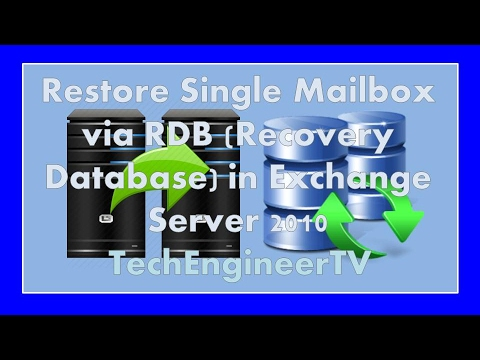 Restore Single Mailbox via RDB (Recovery Database) in Exchange Server 2010