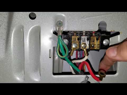 Changing a 4 prong dryer cord to a 3 prong dryer cord