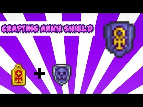 Terraria 3ds Ankh Shield Crafting!!