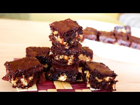 Fudgy Snickers Brownies | Kitchen Time with Neha