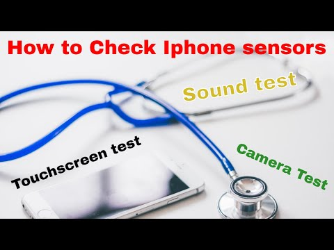 How to check iphone sensors || Check your touchscreen || Hindi ||