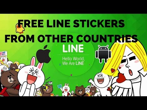 How to get LINE STICKERS for FREE? New Method in description IOS/ANDROID VPN Update sept 2016