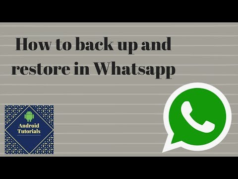 How to back up and restore in Whatsapp