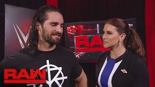 Seth Rollins gets brutally honest with Stephanie McMahon: Raw, Sept. 19, 2016