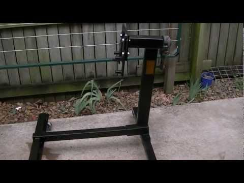 ENGINE STAND / GEARED HEAD HOME MADE