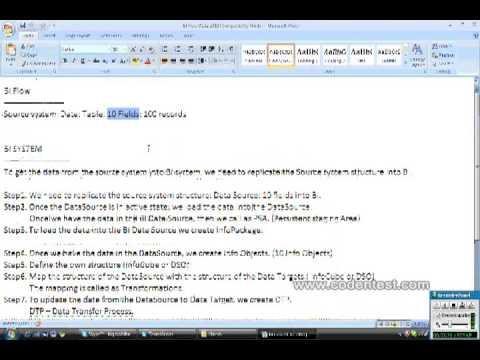 Data Flow in SAP BI Part 1