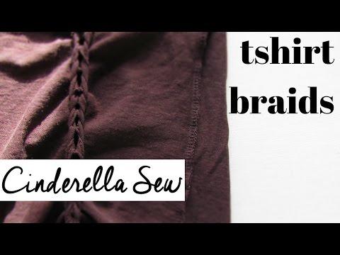 How to braid tshirts - DIY tshirt braiding tutorial - Make braids in the sides of your t-shirt
