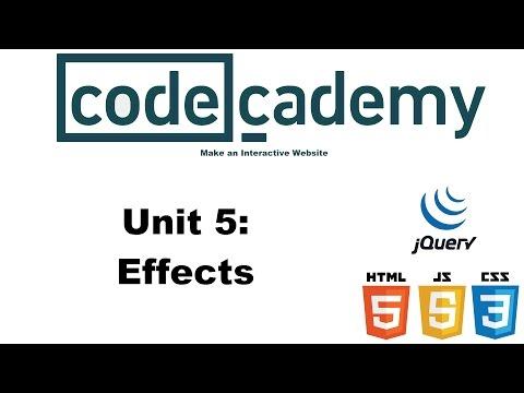 Make an Interactive Website: Effects