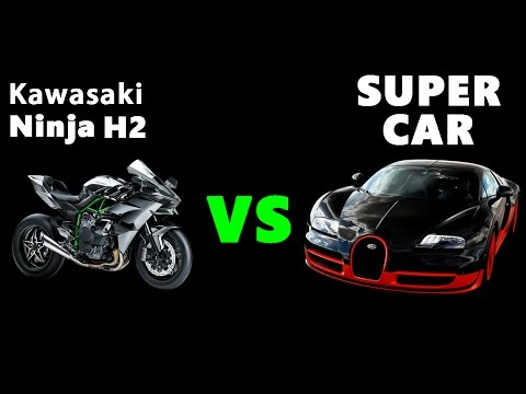 Kawasaki Ninja H2 vs 3 SuperCars ! Who's Gonna Win ?