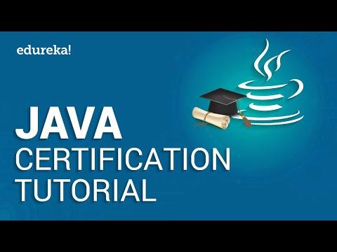 Java Certification Tutorial   Java Tutorial For Beginners   Java Training   Edureka
