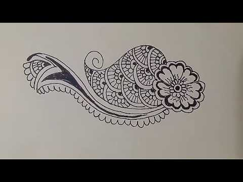 Basic Steps of Mehndi Design Class- 6 for Beginners learn step by step Tutorial