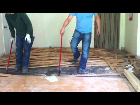 How to remove hardwood floors (nail down)