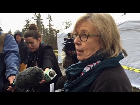 Elizabeth May arrested, released at anti-pipeline protest