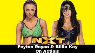 WWE NXT 2017.01.10 Billie Kay & Peyton Royce vs Sarah Bridges & Macy Evans