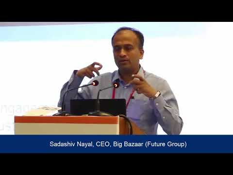 Mr.Sadashiv Nayak, CEO, Big Bazaar, at the National Conference