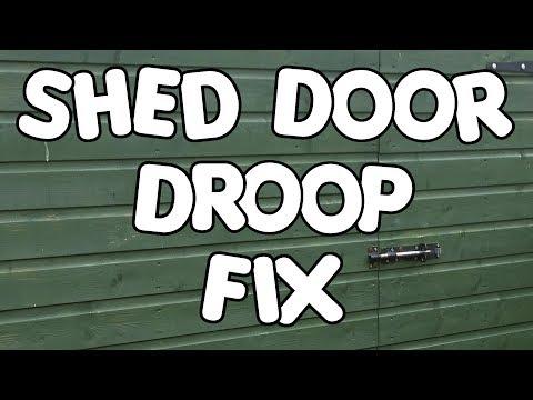 Shed Door Droop Fix - by VegOilGuy