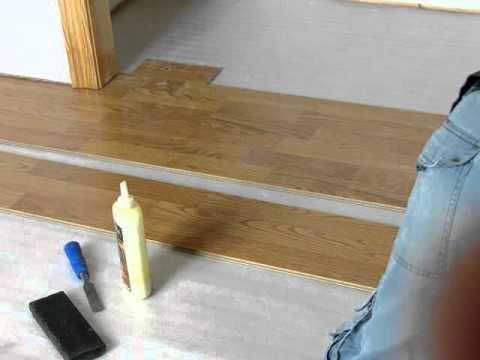 Laminate Flooring: Starting at Closet