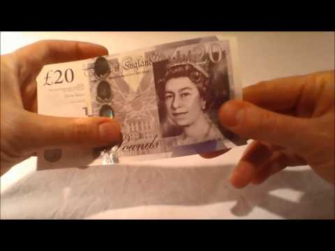 Twenty Pound sterling note- Design and security features