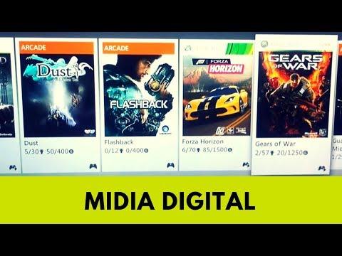 Meus jogos de Xbox 360 (Mídia Digital)