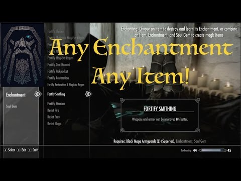 Skyrim SE Any Enchantment Mod