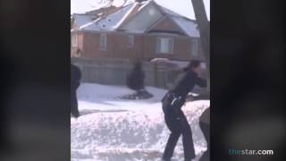 Teen girls caught on video in fight with Peel police officer