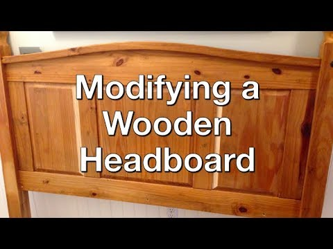 How to Cut Down a Wooden Headboard (King to Queen)